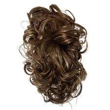 Extension INVISIBILE Pinza mollettone con Mezza Coda Riccia capelli sintetici Co