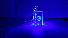 Crystal LED Laser Key Ring SKODA Logo Blue