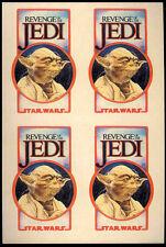 STAR WARS REPRO 1981 . REVENGE OF THE JEDI YODA CREW STICKERS X4 - SHEET NOT DVD