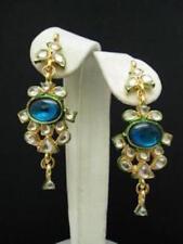 Indian Kundan Earrings Gold Tone Fashion Wedding Tribal Jewellery Bohemian