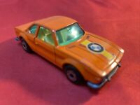 VINTAGE MATCHBOX SUPERFAST ORANGE BMW 3 DIE CAST CAR 1970 LESNEY ENGLAND NO. 45