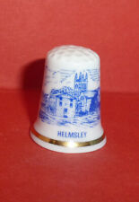 HELMSLEY Thimble Market Town Ryedale Yorkshire Church of All Saints Blue Sketch