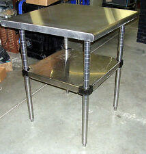 Metro Stainless Steel Work Prep Table 30 Sq Adjustable