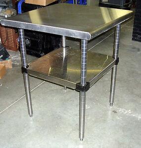 """METRO STAINLESS STEEL Work Prep   TABLE 30"""" Sq. ADJUSTABLE"""