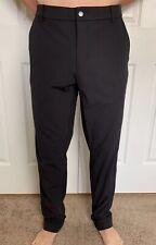 """Lululemon Men Size 36 Commission Pant Classic 34""""L Black BLK Warpstreme Causal"""