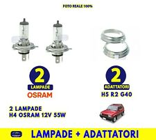 Lampadine H4 Fiat Panda Van Luci 55W 12V adattatore convertitore H5 OSRAM kit da