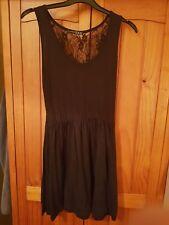 Ladies Black Net Summer Dress Size 10