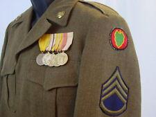 WWII & KOREAN WAR VETERAN US ARMY  STAFF SERGEANT'S IKE JACKET UNIFORM MEDALS