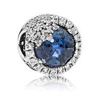 Original PANDORA Element 796358NTB Charm Glanzvolle Schneeflocke blau