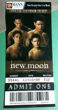 TWILIGHT NEW MOON WOLFPACK WOLF PACK MANN THEATRES OFFICIAL SOUVENIR TICKET