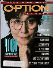 OPTION #45 July August 1992 YOKO ONO LESTER BOWIE DINOSAUR JR. JAH WOBBLE