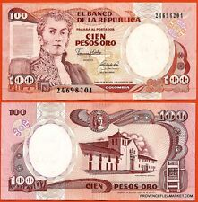 COLOMBIE billet neuf de 100PESOS DE ORO Pick426A ANTONIO NARINO VILLA LEYVA 1991