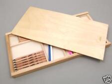 Wood Pencil Box Artists Art Paint Transport Storage NEW - Please read listing !
