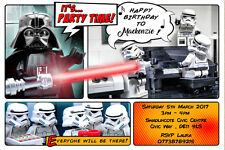 Envelopes CBT80 Personalised Lego Star Wars Birthday Party Thank You Cards inc