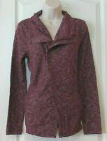 NWT Women's Cherry Combo G.H. BASS & CO. Zip Up Knit Jacket Size Medium M