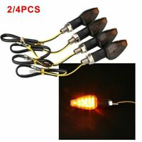 2pcs Universal Motorcycle LED Turn Signals Indicator Light Warning Lamp Amber