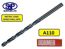 LONG DRILL BITS FOR STEEL / METAL 1.0MM TO 12.0MM DORMER A110 HSS LONG SERIES