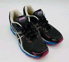 ASICS GT-2000 Womens Size 8.5 Wide (D) Running Shoes Black/White/Blue