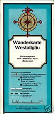 Wanderkarte, Reliefkarte, Westallgäu, um 1978