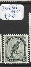 NEW ZEALAND (P1903B)  LYRE BIRD 1/-  SG 567  MOG