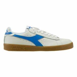 Diadora Game L Low White Blue 172526-C3144 Mens Trainers RRP £55 ~FREEPOST