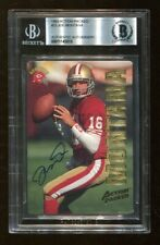 Joe Montana Signed 1993 Action Packed #23 Autographed 49ers Beckett BAS *3815