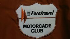 NOS 1960's-70's FORETRAVEL MOTORCADE CLUB Men's Jacket with Patches - Size SMALL