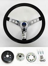 """1970-76 Demon Dart Charger Demon Black & Chrome Steering Wheel 14 1/2"""" Mopar cap"""