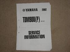 YAMAHA TDM 900 (P) WARTUNGSANLEITUNG SERVICE INFORMATION INSPEKTION HANDBUCH 02
