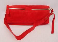 LANVIN Red Leather Oversized Clutch Shoulder Bag RRP1500GBP