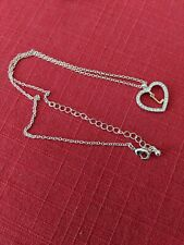 Avon Initial L In Crystal Heart Silver-plated Necklace