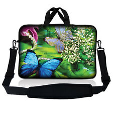 "17.3"" 17 Laptop Sleeve Bag Case Pouch w Handle & Shoulder Strap Butterfly SP02"