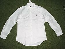 Mens $98. (L) POLO-RALPH LAUREN White STRETCH Oxford Shirt (Slim Fit)