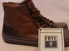 Frye Men's Brown Distressed Leather Lace Up Boots Shoes Vintage Look New Size 9