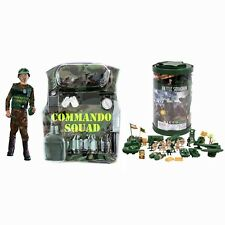 9 PCS Commando Military Kit Boys Play Set + 82 pcs Army Men Toy Soldiers + BONUS
