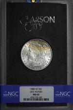 1884-CC GSA Morgan Dollar NGC MS-63 Rainbow! with Original Box and Card