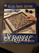 Scrabble Deluxe Car Travel Camping Edition Game Mini Complete Wood Tiles Family