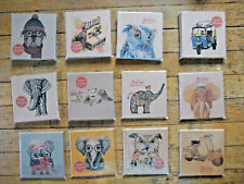Set of TWO Mini Handmade Travel Journals from Thailand Love Go to Chiang Mai