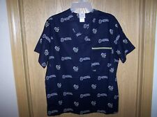 MILWAUKEE BREWERS  MLB SCRUBS TOP ADULT  SMALL  NEW NAVY BLUE