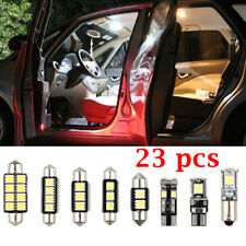 23PCS/set LED White Auto Inside Light Dome Trunk Mirror License Plate Lamp Bulbs