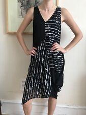 Unusual Mint velvet Dress Size 8 Black White Asymmetric Loose Oversized