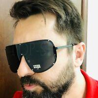 Oversize Big Fashion Men Women Visor XL Large Retro Polarized Shades Sunglasses