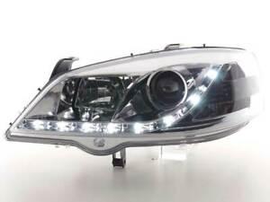 Coppia fanali fari 4250540137292 con LED per Opel Astra G 98-03 cromati