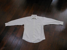 Preowned Vintage MUNSINGWEAR Dress Shirt Size 15 1/2 32/33 Beige MADE IN KOREA
