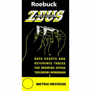 Zeus Precision Engineers Metric Data Book Chart Charts Reference Tables