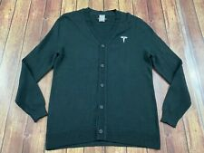 Tesla Motors Men's Black Cardigan Sweater - Small