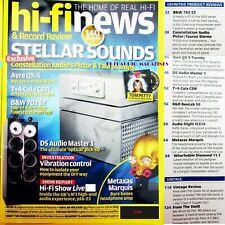 HI-FI NEWS CLASS A SUGDEN A21 AUDIO FLIGHT FLS10 T+A CALA CDR CONSTELLATION AYRE