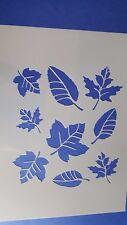 Schablonen 726 Herbstblätter Wandtattoo Möbel Stencil Textilgestaltung Airbrush