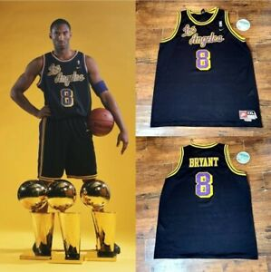 Kobe Bryant Lakers Black Jersey Nike Championship Dodgers Purple Stichted In