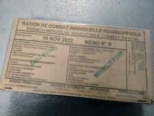 #2022# Menu 5 , French MRE IRP Military Food RCIR 24H MENU Combat Box US France